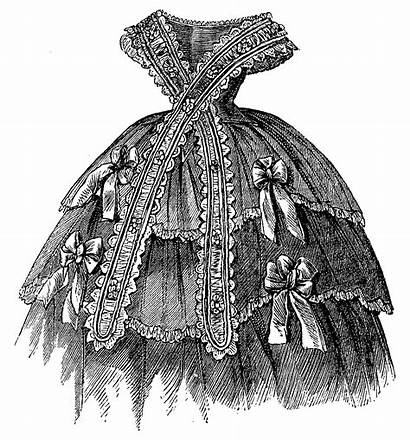 Victorian Corset Digital Hair Illustrations Evening Antique