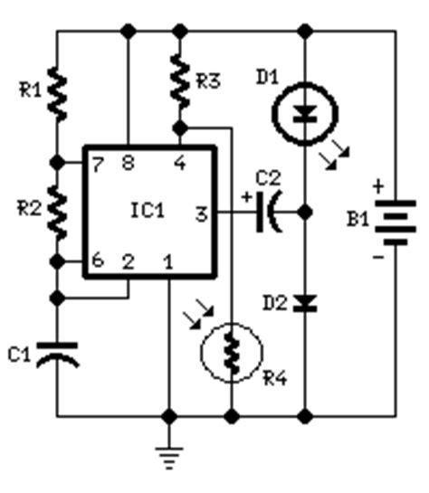 Battery Powered Night Lamp Circuit