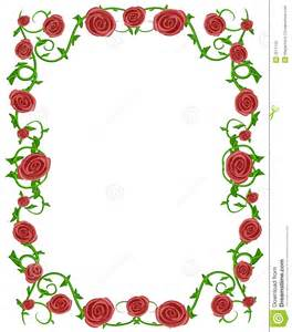 Red Rose Borders and Frames