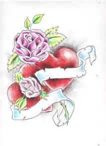 Pencil Drawings Hearts and Roses