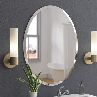 bathroom vanity oval mirrors youll love wayfair