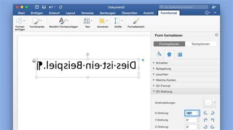 praktische funktion text  word spiegeln netzwelt