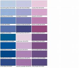 lavender paint colors chart | ... Colors - Paint Chart ...