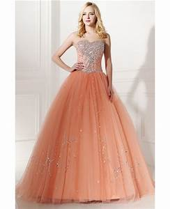 elegant coral beaded formal dress ball gown for With robe saumon