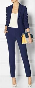 Blauer Anzug Schuhe : die besten 25 hosenanzug damen ideen auf pinterest damen hosenanzug modern damen hosenanzug ~ Frokenaadalensverden.com Haus und Dekorationen