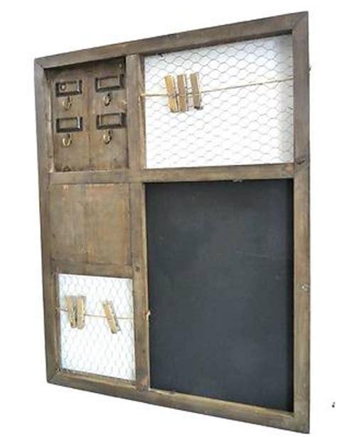 porte cles mural original cadre tableau ardoise pense b 234 te de cuisine porte boite clef cl 233 s mural en bois design