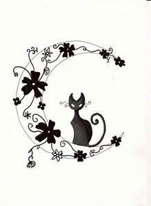 Lune Dessin Tatouage : chat fleurs et lune tattoo pinterest tatouage ~ Melissatoandfro.com Idées de Décoration