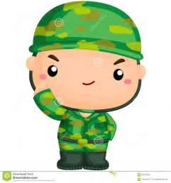 Cute Cartoon Army Soldier
