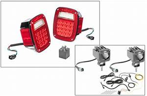 Quadratec Led Tail Light Kit  U0026 2 U0026quot  Cube Led With Wiring