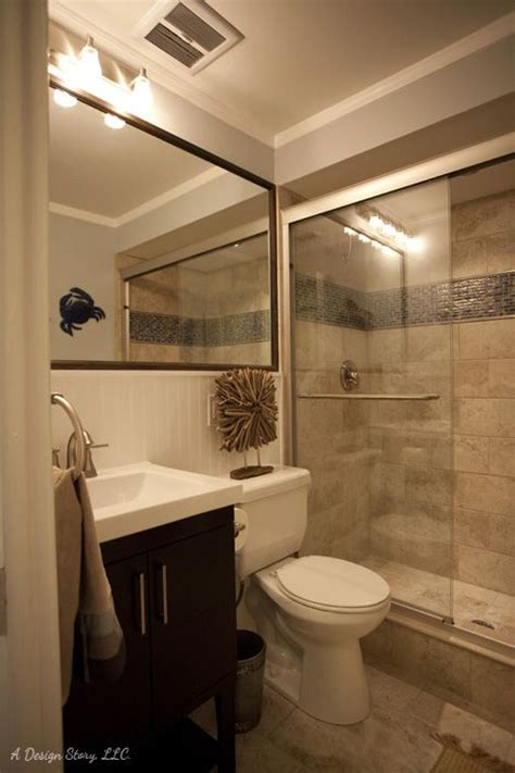 Small Bath Ideas Love The Large Mirror Over The Sink And