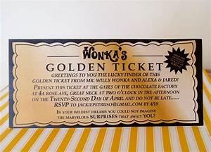 Willie wonka golden ticket invitations willy wonka for Willy wonka invitations templates