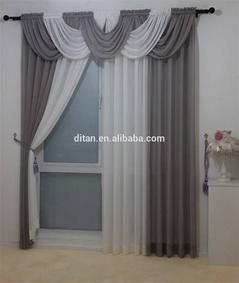 2015 modern sheer ready made window curtain swag valance