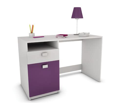 bureaux meubles bureau lagos blanc prune