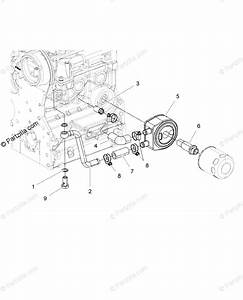 Polaris Side By Side 2015 Oem Parts Diagram For Engine  Oil Cooling System