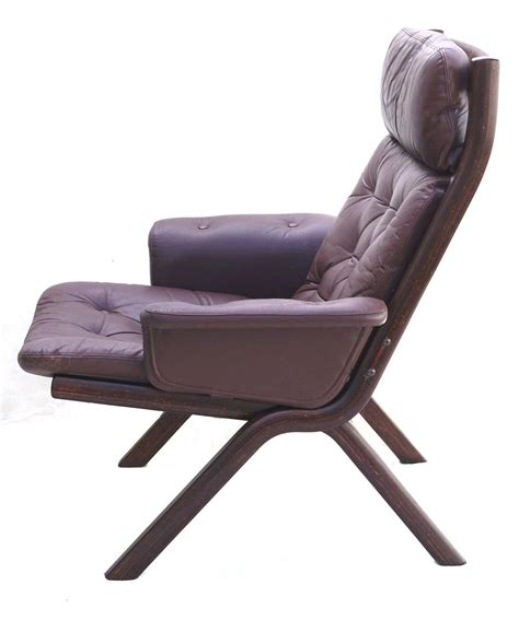 leather lounge chair with ottoman danish modern leather sculptural sling lounge chair and