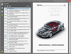 Audi Tt Mk2  Hj  - Service Manual    Repair Manual