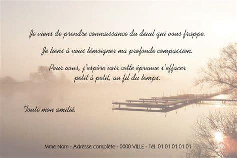 modèle carte de condoléances carte de condol 233 ances pour particulier et professionnels