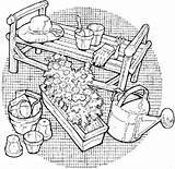 Tools Coloring Gardening Bulk Bulkcolor sketch template