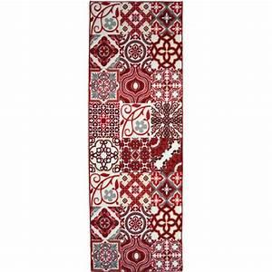 Tapis De Couloir Au Mètre : utopia tapis de couloir 80x300 cm rouge et blanc achat vente tapis de couloir 100 polyamide ~ Teatrodelosmanantiales.com Idées de Décoration