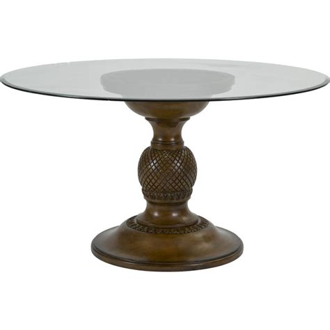 broyhill glass table ls broyhill 4548 round dining amalie bay round glass top