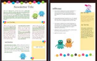 Free Teacher Newsletter Templates for Word