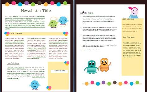 microsoft word newsletter templates  teachers