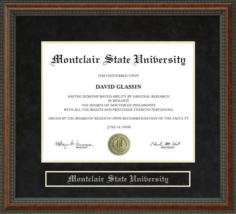 montclair state diploma frame wordyisms