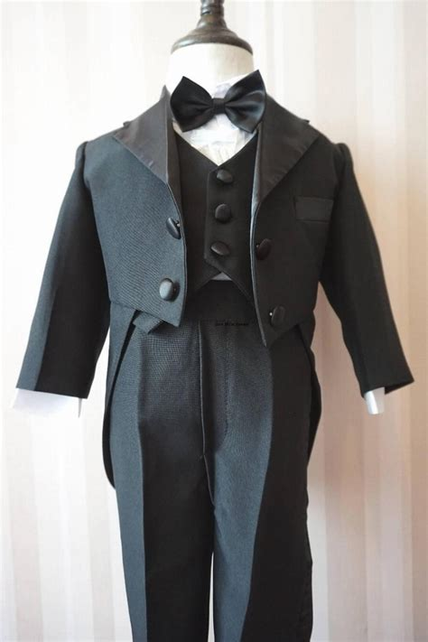 baby boy  pieces clothing set children tuxedo kids