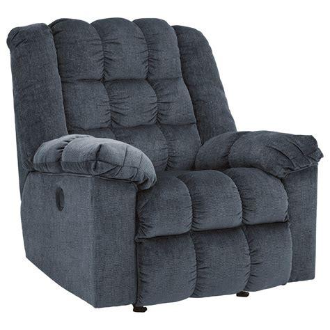 blue rocker recliner signature design by ludden blue power rocker