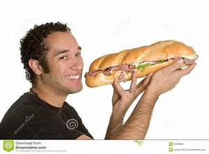 Man Eating Food stock image. Image of african, holding ...