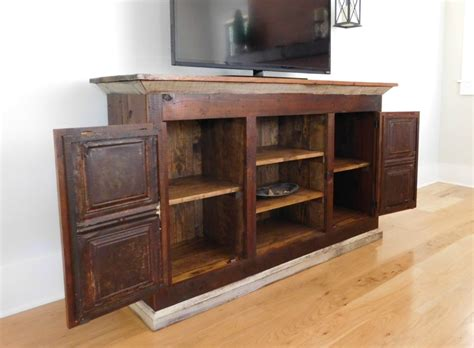 reclaimed wood media cabinet reclaimed wood media console tv cabinet tenpenny house