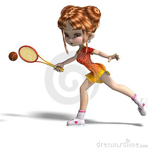 anime based on badminton with racket plays tennis royalty free stock
