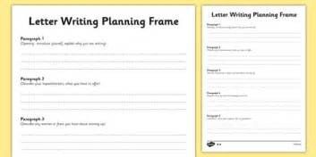 transition letter writing differentiated planning frame