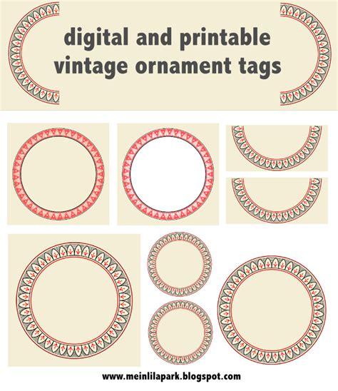 printable vintage ornament circle tags audruckbare