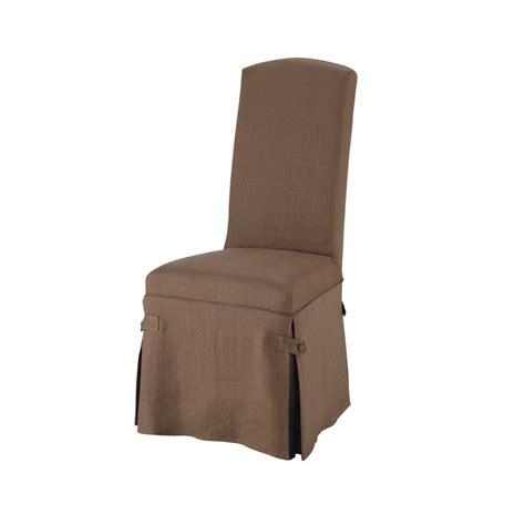 housse de chaise taupe housse longue de chaise en taupe maisons du monde
