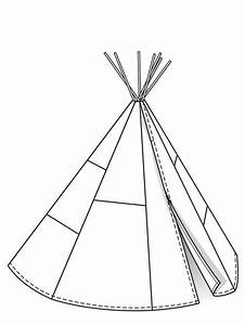 tipi free pattern tents pinterest With teepee template printable