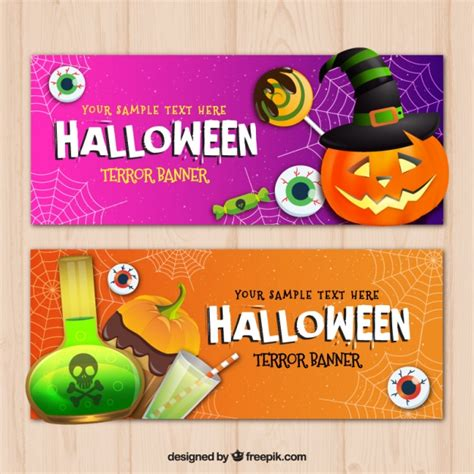 40+ vectors, stock photos & psd files. Halloween banners with elements Vector | Free Download