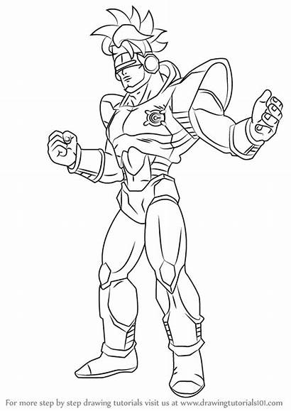 Dragon Ball Android Draw Drawing Step Learn