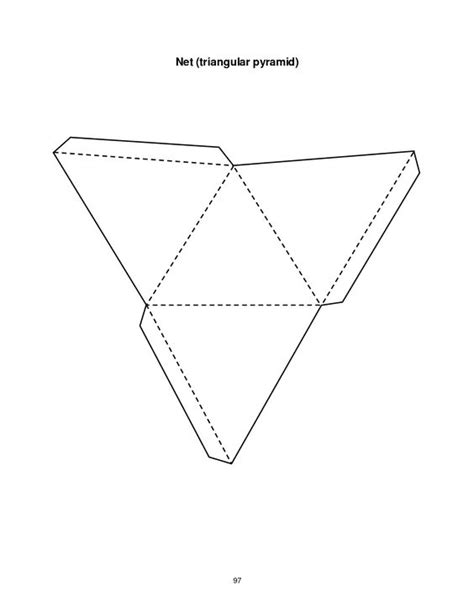 triangular pyramid template geometrische figuren