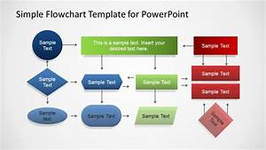 Simple flowchart template for powerpoint slidemodel for Flowchart templates for powerpoint free