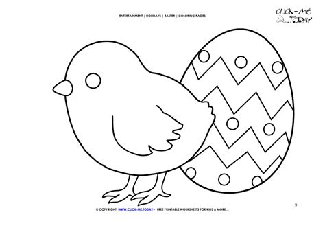 Easter Egg Coloring Pages Small Eggs Set Of 9 Happy