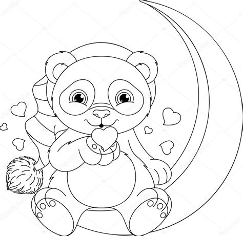 Dierenmasker Kleurplaat Panda by Panda Kleurplaat Stockvector 169 Malyaka 104579968