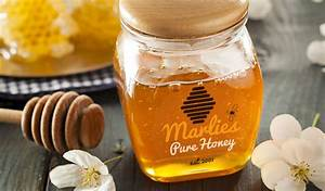 custom honey labels and jar labels stickeryou products With clear honey labels