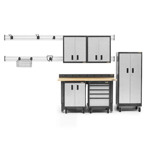 gladiator storage cabinets home depot gladiator premier series 90 in h x 102 in w x 25 in d