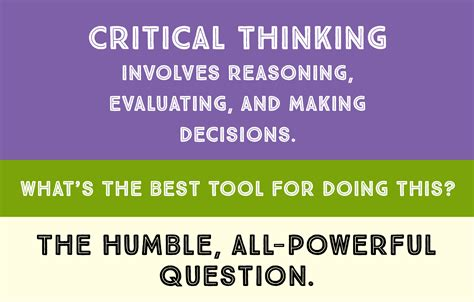 """Is """"critical Thinking"""" In Critical Condition? How Questions Can Help  A More Beautiful"""