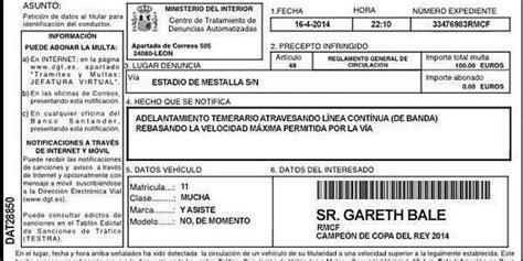 Speeding Ticket by Gareth Bale Goal Real Madrid Winger Receives Speeding