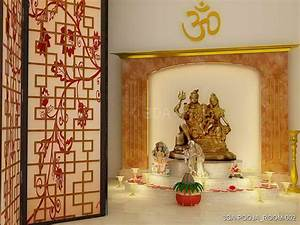 3da best pooja room interior decorators in delhi and for Interior decoration pooja room