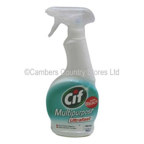 Cif Multipurpose Ultrafast Cleaner With Bleach 450ml