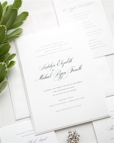 Elegant Wedding Invitations in Light Pink Wedding