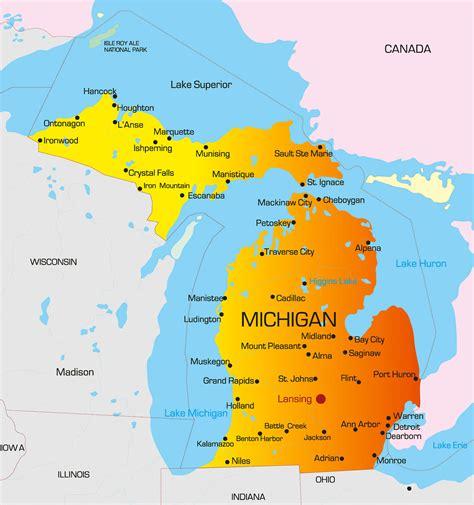michigan map guide   world